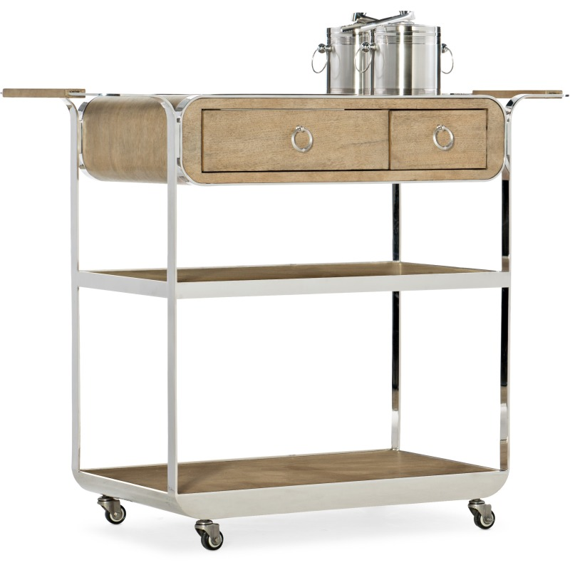Novella Poplar Beach Bar Cart Silhouette
