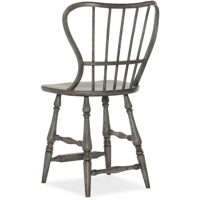 Miraculous Ciao Bella Spindle Back Counter Stool Speckled Gray By Evergreenethics Interior Chair Design Evergreenethicsorg