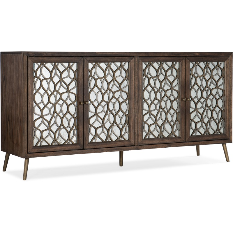 Mixed Metals Entertainment  Console Silhouette