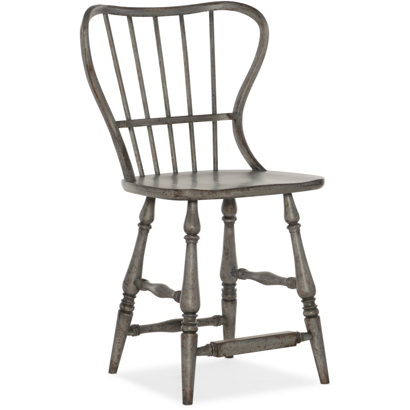 Ciao Bella Spindle Back Counter Stool-Speckled Gray Silhouette