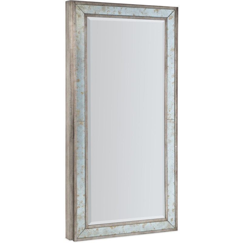 Melange McALister Floor Mirror w/ Jewelry Storage