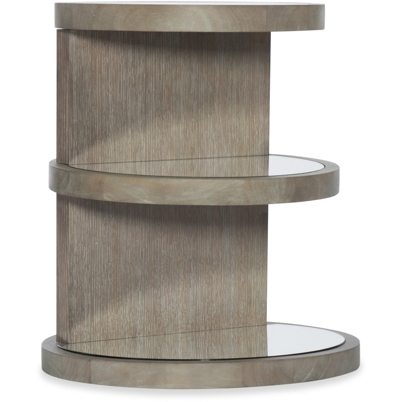 Affinity Round End Table Silhouette
