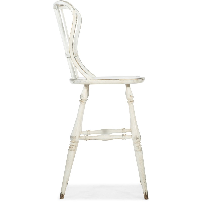 Super Ciao Bella Spindle Back Bar Stool White By Hooker Furniture Evergreenethics Interior Chair Design Evergreenethicsorg