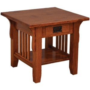 Old World Mission End Table