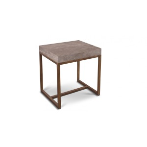 Roka Gray Marble End Table
