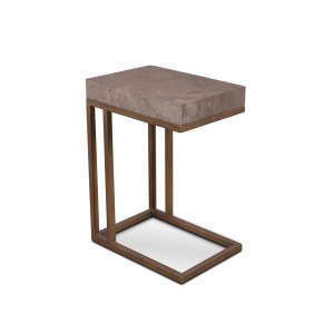Roka Gray Marble Side Table