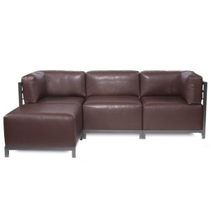 Axis 4pc Sectional Avanti Pecan Titanium Frame