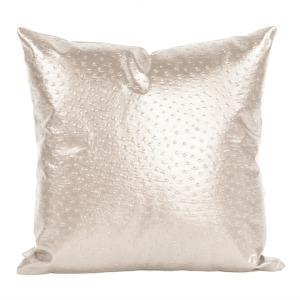"""20"""" x 20"""" Pillow Ostrich Pearl"""