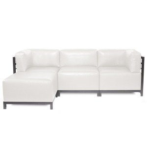 Axis 4pc Sectional Avanti White Titanium Frame