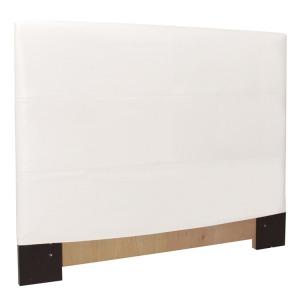 Twin Slipcovered Headboard Avanti White
