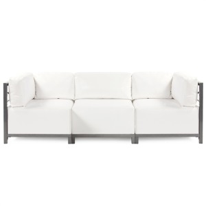 Axis 3pc Sectional Atlantis White Titanium Frame