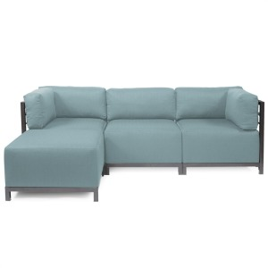 Axis 4pc Sectional Sterling Breeze Titanium Frame