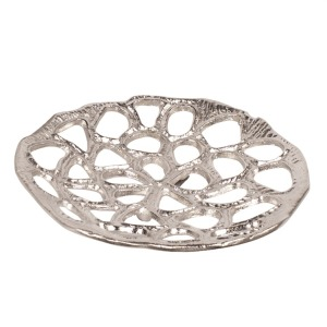 Nickel Plated Open Honeycomb Wall Art - Small