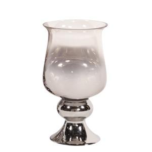 Smokey Glass Huricane Small Vase