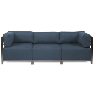 Axis 3pc Sectional Sterling Indigo Titanium Frame