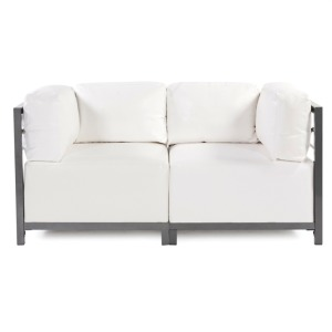 Axis 2pc Sectional Atlantis White Titanium Frame