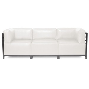 Axis 3pc Sectional Avanti White Titanium Frame