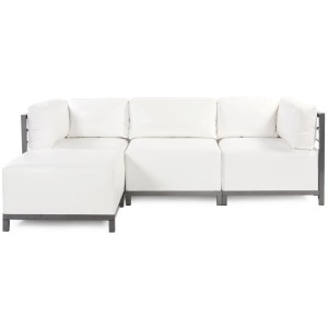 Axis 4pc Sectional Atlantis White Titanium Frame