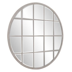 Superior Round White Wash Mirror