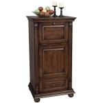 Cognac Hide-A-Bar Cabinet