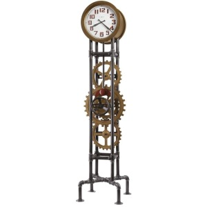 Cogwheel Metal Floor Clock