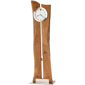 Acacia Tree Wooden Slabs Modern Floor Clock