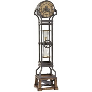 Hourglass Metal Grandfather Clock