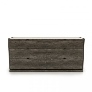6 drawer dresser with lacquered glass top Shown in anthracite 21