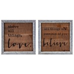 Believe in Love Wall Decor - Ast 2