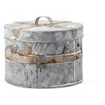 Talbot Galvanized Round Boxes - Set of 3