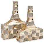 Toucey Golden Vases- Set of 2