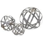 Demi Galvanized Spheres - Set of 3