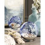 Adams Art Glass Globes - Set of 2