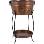 TY Persimmon Beverage Tub with Tray and Stand