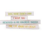 Pet Sayings Wall Decor - Set of 4