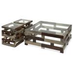 Greyson Metal Clad Wood Tables - Set of 3