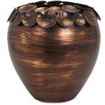 Ethan Copper Leaf Vase - Small