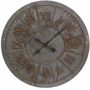 Gilbert Galvanized Clock