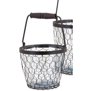 TY Honeybee Glass Bucket - Small