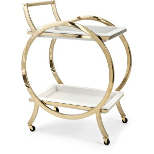 Quentin Stainless Steel Bar Cart