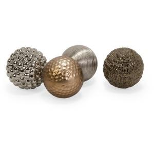 Metallic Finished Orbs - Set of 4