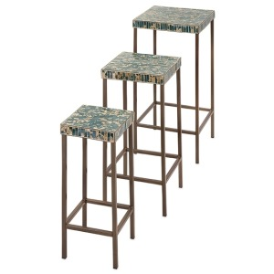 Glacier Mosaic Tables - Set of 3