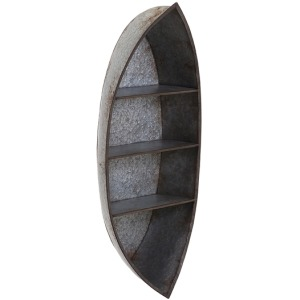 Nelson Galvanized Canoe Wall Shelf