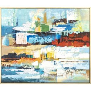 Energized Framed Oil Painting