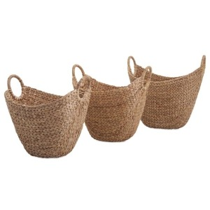 Caitlan Natural Weave Baskets - Set of 3