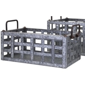 TY Honeybee Galvanized Crate - Small