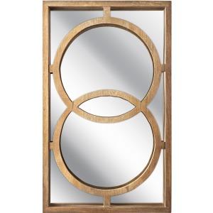 Spheres Carved Wood Mirror