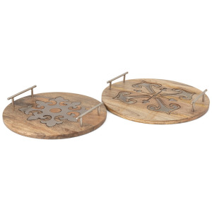 Aceline Metal Inlay Trays - Set of 2