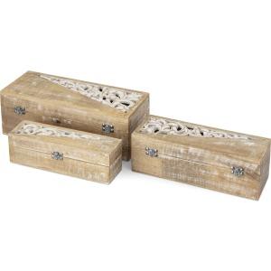 Livia Wooden Boxes - Set of 3