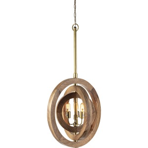 Haskell Carved Wood Chandelier